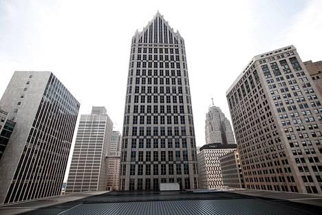 Toimistotaloja Detroitin keskustassa torstaina.