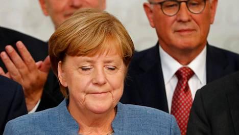 """""""Olisimme toivoneet parempaa tulosta"""", sanoi liittokansleri Angela Merkel sunnuntai-iltana."""
