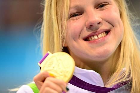 Ruta Meilutyte voitti naisten 100 metrin rintauinnin olympiakultaa vain 15-vuotiaana Lontoon olympialaisissa.