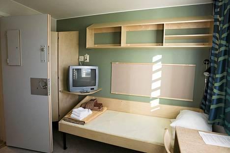 Vangin huone vankila Salbergissa Ruotsissa.
