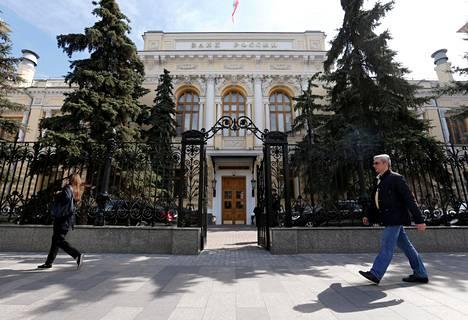 Venäjän keskuspankin pääkonttori Moskovassa.
