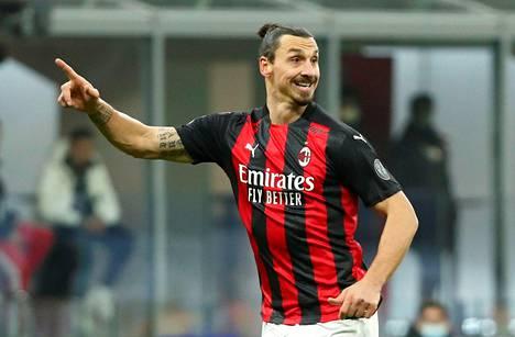 AC Milanin Zlatan Ibrahimovic tammikuussa pelissä Torinoa vastaan.