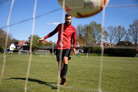 Tim Sparv harjoitteli Silkeborgissa Tanskassa toukokuussa.