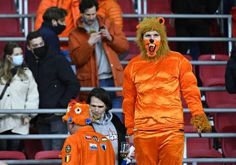Amsterdamin areenalle on otettu rajoitetusti yleisöä kevään aikana. Kuva on Hollanti–Latvia-MM-karsintaottelusta 27. maaliskuuta.