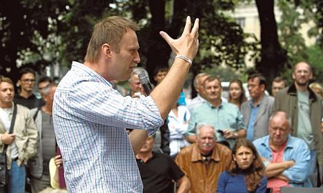 Venäjän opposition keulahahmo, korruption vastaisena bloggarina tunnetuksi tullut Aleksei Navalnyi puhui Moskovassa tällä viikolla.