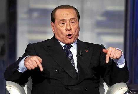 Silvio Berlusconi vieraili viime torstaina italialaisessa tv-ohjelmassa.