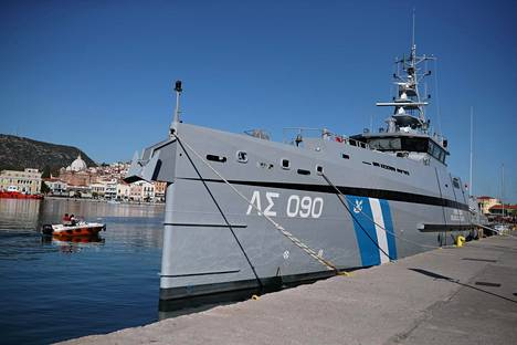 Kreikan rannikkovartioston alus Gavdos oli Mytilínin satamassa Lesboksen saarella syyskuun lopussa.