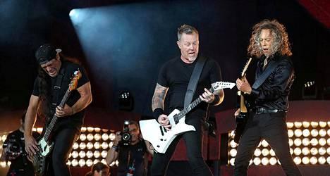 Metallica esiintymässä New Yorkissa viime syyskuussa.