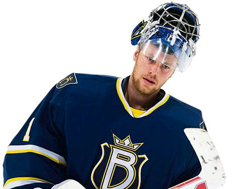 Mikko Koskinen <br />ehti pelata vain <br />kaksi ottelua <br />Bluesissa ennen <br />siirtoaan KHL:ään.