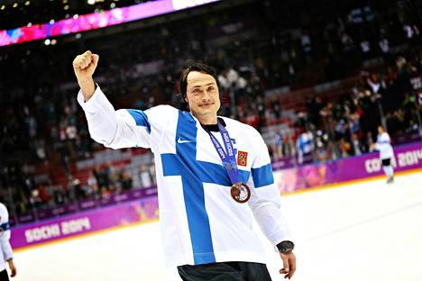 Teemu Selänne päätti maajoukkueuransa olympiapronssiin.