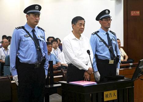 Bo Xilai oikeudessa 22. elokuuta.