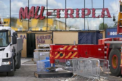 Triplan kauppakeskus on viralliselta nimeltään Mall of Tripla.