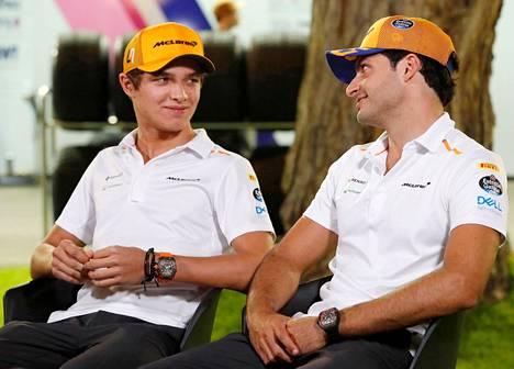 Lando Norris ja Carlos Sainz Jr. ovat McLarenin kisakuljettajat tällä kaudella.