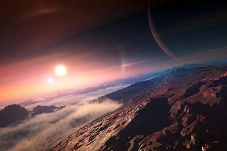 Eksoplaneettoja on löytynyt jo yli 2 000. Nyt 31 niistä on saanut lempinimen, jotka hyväksyi Kansainvälinen tähtitieteellinen unioni IAU. Kuvassa taiteilijan näkemys eksoplaneetan vuoristoseudulta.