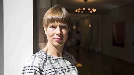 Viron presidentti Kersti Kaljulaid kuvattuna Viron suurlähetystössä Helsingissä kesäkuussa 2019.
