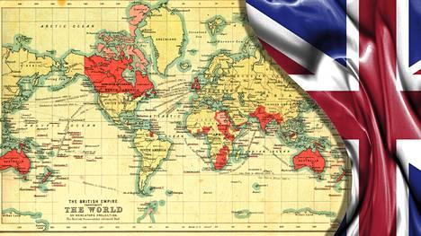 Britti-imperiumin kartta vuodelta 1902.