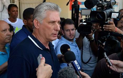 Kuuban johtoon noussut Miguel Díaz-Canel helmikuussa 2019.