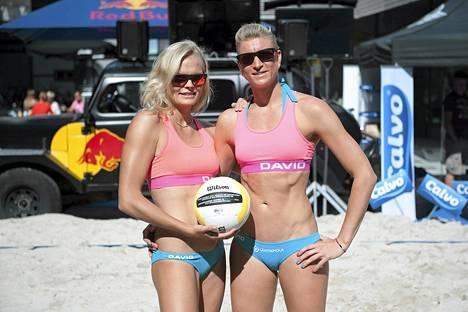 Taru Lahti ja Riikka Lehtonen aloittivat voitokkaasti Euroopan kisoissa Bakussa. Kuva viime vuoden elokuulta.