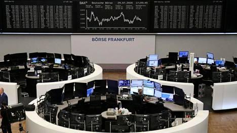 Frankfurtin pörssissä seurattiin Saksan Dax-indeksin kehitystä keskiviikkona 29. heinäkuuta.