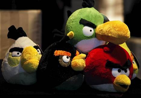 Angry Birds -pehmoleluja oli esillä Hong Kongissa heinäkuussa.
