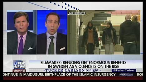 Ruutukaappaus Fox-kanavan ohjelmasta, jossa amerikkalaisohjaaja Ami Horowitzia haastateltiin.