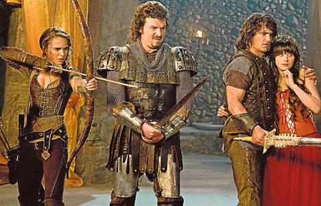 Natalie Portman, Danny McBride, James Franco ja Zooey Deschanel näyttelevät fantasiafarssissa.
