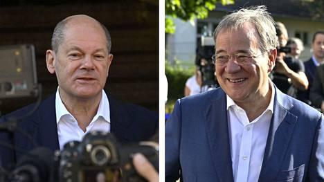 Olaf Scholz ja Armin Laschet sunnuntaina.