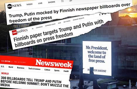 Helsingin Sanomien lehdistönvapauskampanjasta on uutisoitu arvion mukaan yli tuhannessa eri mediassa.