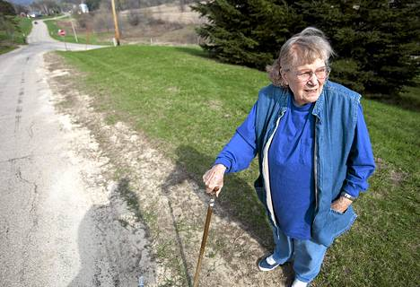 Stalinin tytär Lana Peters kuvattuna huhtikuussa 2010 kotiseudullaan Wisconsinissa Yhdysvalloissa.