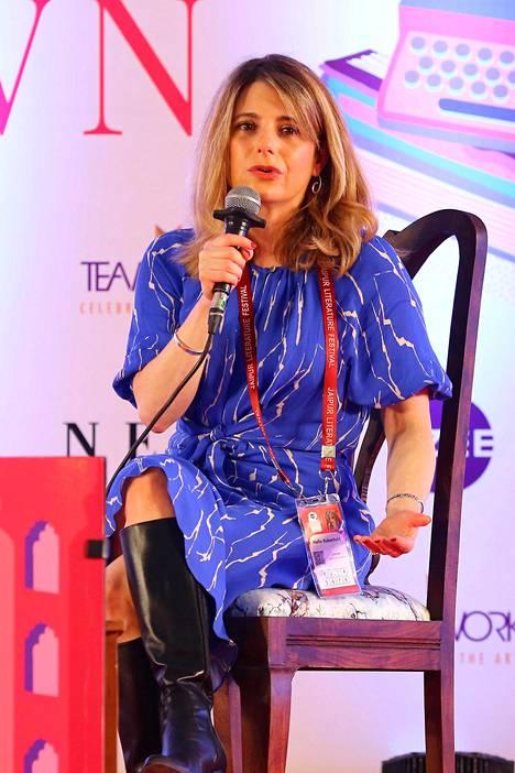 Hallie Rubenhold vieraili kirjallisuustapahtumassa Intiassa tammikuussa tänä vuonna.