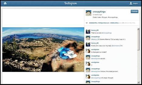 Kuvakaappaus sarjatöhrijän alkuperäiseltä Instagram-tililtä.