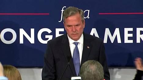 Jeb Bush jätti USA:n presidenttikisan
