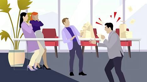 Moni HS:n kyselyyn vastanneista kertoo, että työpaikalla he ovat saaneet hankalan ihmisen leiman räjähdysherkkyytensä takia.