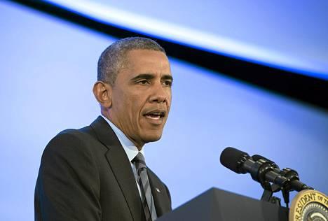 Barack Obama puhui keskiviikkona Washingtonissa.