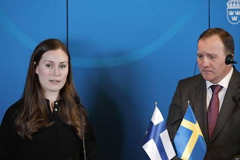 Suomen pääministeri Sanna Marin tapasi Ruotsin pääministeri Stefan Löfvenin tammikuussa 2020 Ruotsin Harpsundissa.