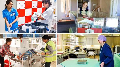Kuntatöissä on tuhansia ammattinimikkeitä. Niihin kuuluvat muun muassa laitoshuoltaja, museoamanuenssi, kirjastonhoitaja ja välinehuoltaja.