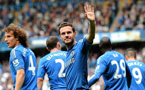 Keskikenttäpelaaja Juan Mata on hyvästelemässä Chelseaa.