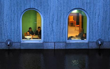 Groningerin museo oli auki keskiviikkona tulvasta huolimatta.