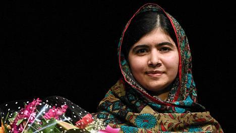 Pakistanilainen aktivisti Malala Yousafzai.