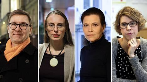 Olli Kärkkäinen, Annica Moore, Anna Rotkirch ja Elisa Matikainen.