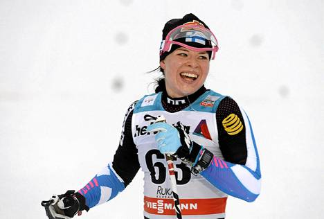 Krista Pärmäkoski oli paras suomalainen Lillehammerin sprintissä. Kuva Rukan maailmancupin kisasta viime viikonlopulta.