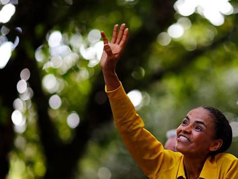 Entinen ympäristöministeri Marina Silva nousi ehdokkaaksi yllättäen, kun puolueen ykkösehdokas Eduardo Campos kuoli lento-onnettomuudessa.
