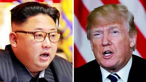 Pohjois-Korean johtaja Kim Jong-un ja Yhdysvaltain presidentti Donald Trump