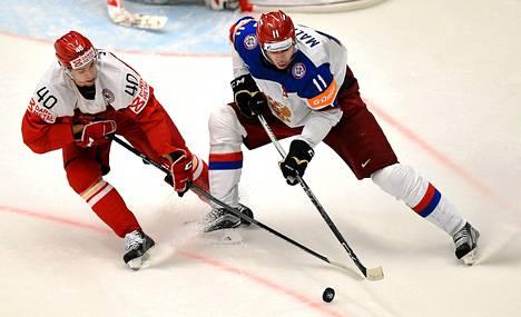 Jokerien Jesper B Jensen ahdisteli MM-kisoissa Venäjän tähtihyökkääjää Jevgeni Malkinia.