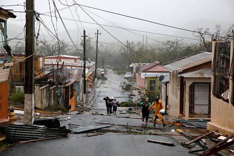 Maria-hurrikaani teki tuhojaan Puerto Ricossa syyskuussa.