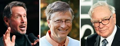 Larry Ellison, Bill Gates ja Warren Buffet