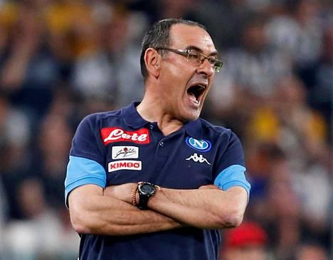 Maurizio Sarri on tehnyt aiemman valmennusuransa Italiassa.