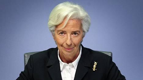 Christine Lagarde on Euroopan keskuspankin (EKP) pääjohtaja.