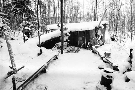 Hökkelikylän asumus vuonna 1987.