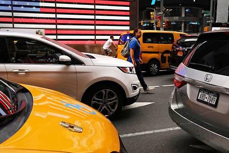 Liikennettä New Yorkin Times Squarella 30. heinäkuuta.